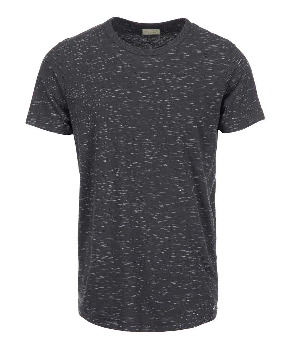 Tmavě šedé žíhané triko Selected Wilder
