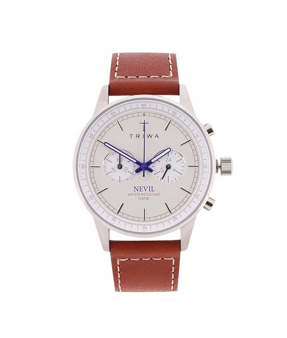 Hnědé pánské kožené hodinky TRIWA Nevil