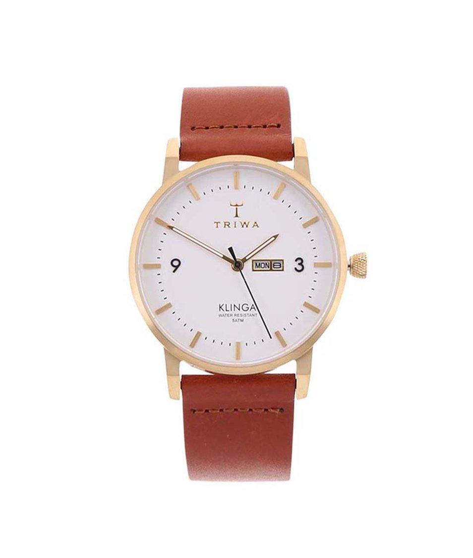 Hnědé unisex kožené hodinky TRIWA Klinga