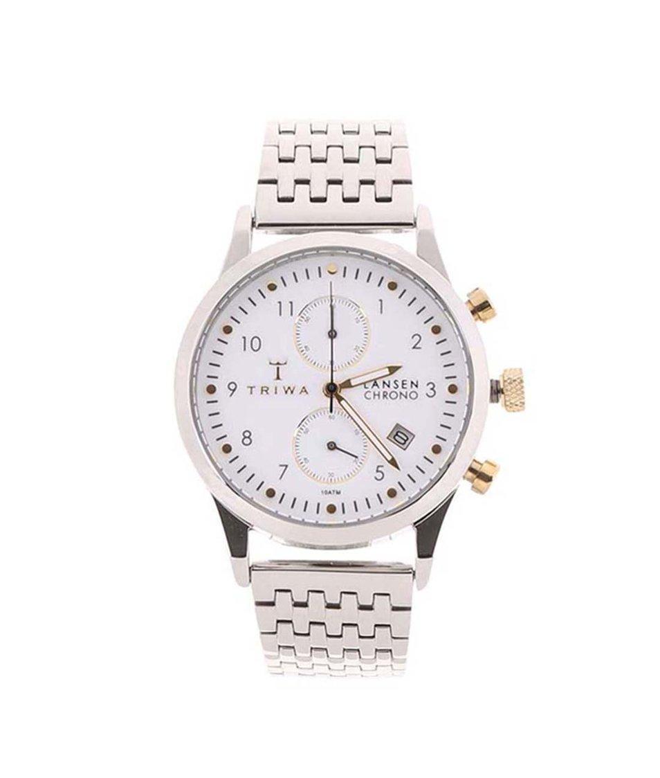 Pánské hodinky v stříbrné barvě TRIWA Lansen Chrono