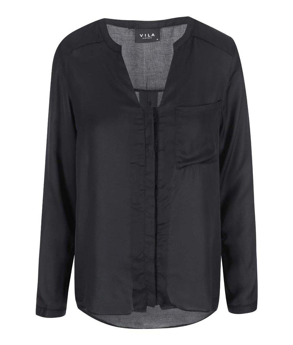 Černá volnější košile VILA Treat