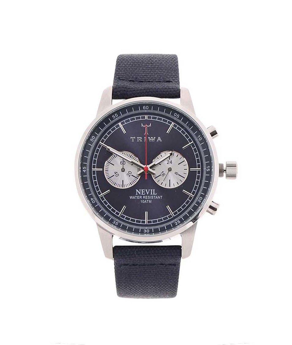 Tmavě modré pánské hodinky TRIWA Nevil