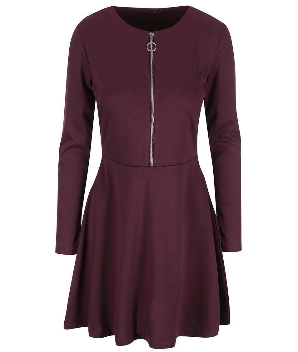 Fialové šaty se zipem VILA Tinny