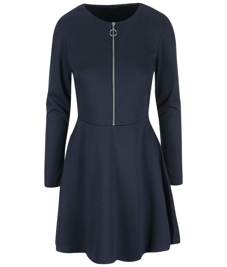 Tmavě modré šaty se zipem VILA Tinny