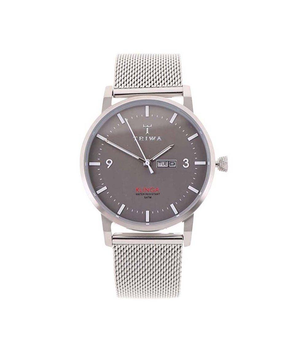 Pánské hodinky v metalické barvě TRIWA Klinga