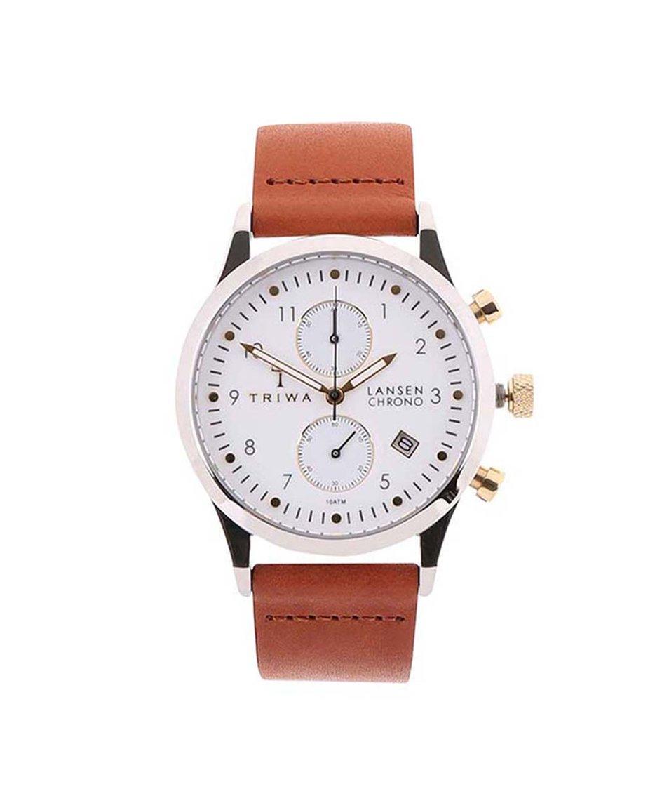 Hnědé unisex hodinky TRIWA Lansen Chrono