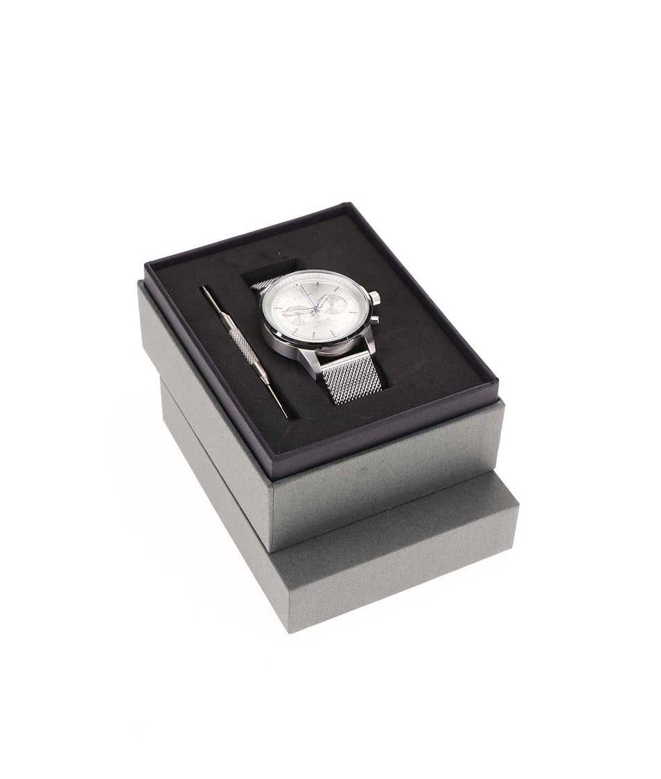 Pánské hodinky v stříbrné barvě TRIWA Nevil