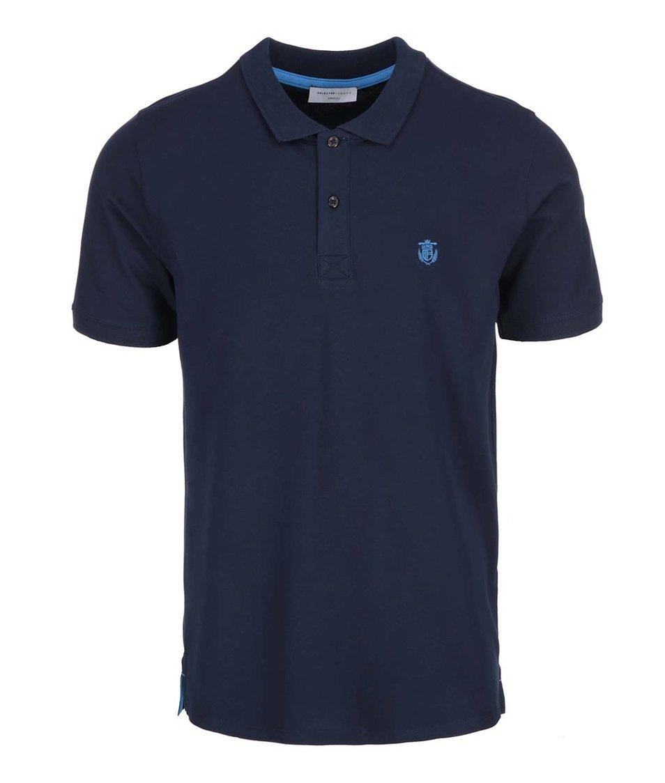 Tmavě modré polo triko Selected Daro