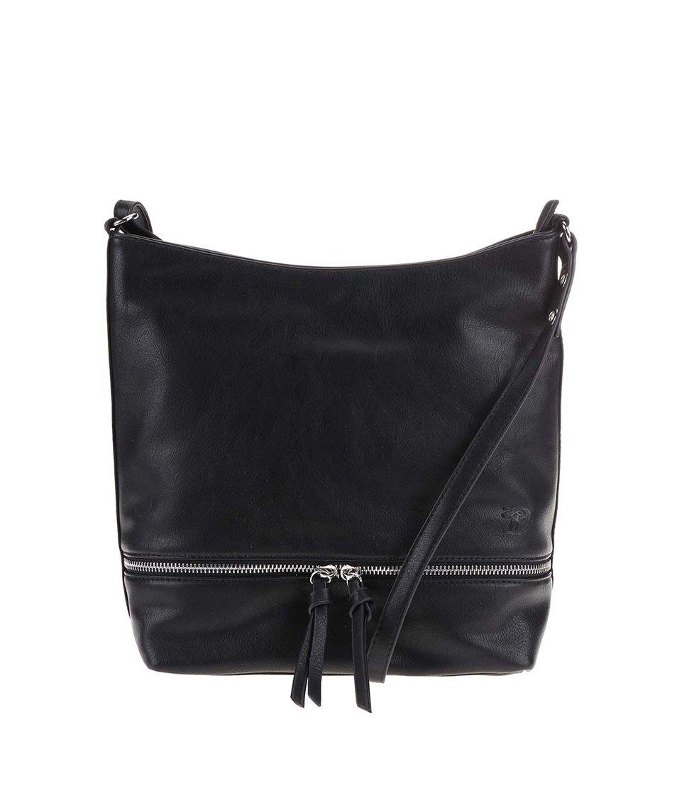 Černá kabelka s ozdobným zipem Tom Tailor