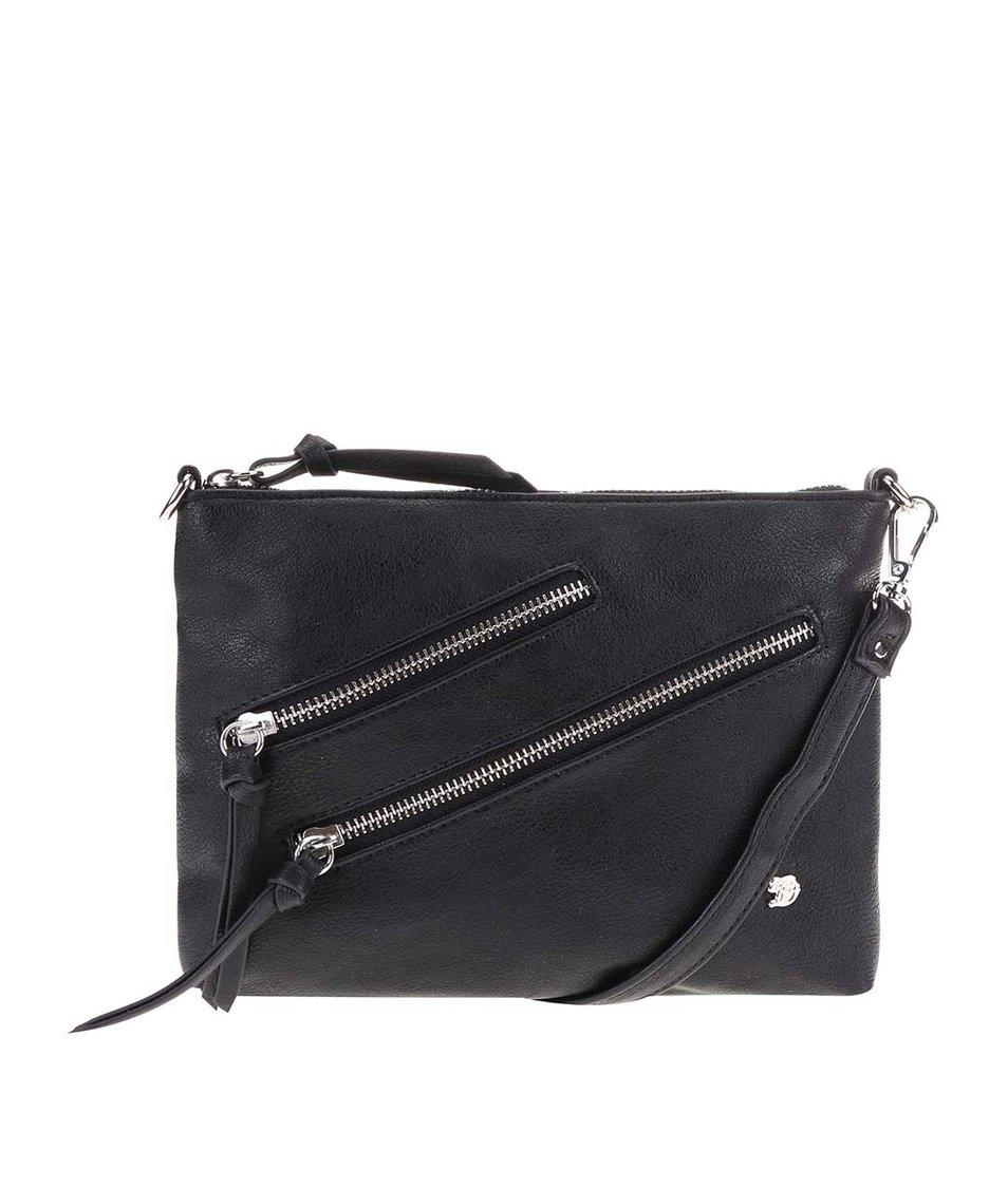 Černá menší kabelka se zipy Tom Tailor