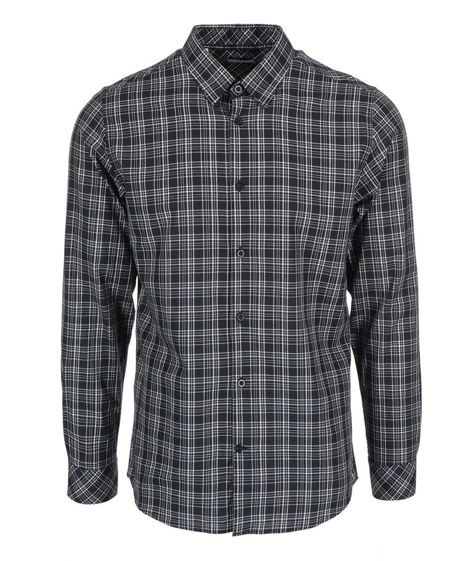 Černá kostkovaná košile Selected Joe