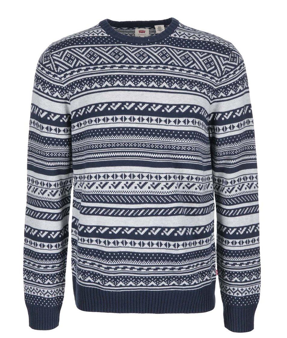 Modrý pánský vzorovaný svetr Levi's®