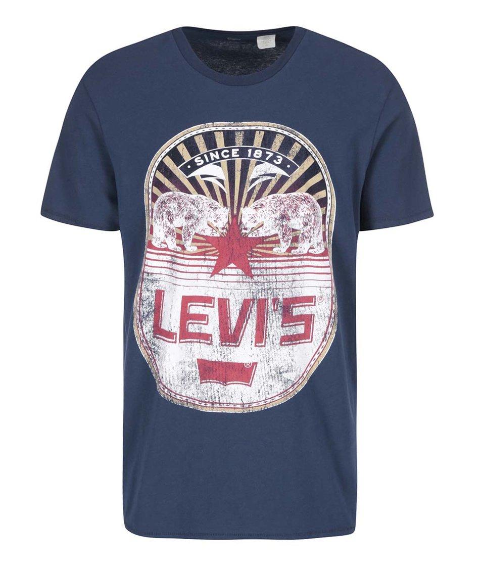 Modré pánské triko s potiskem Levi's®