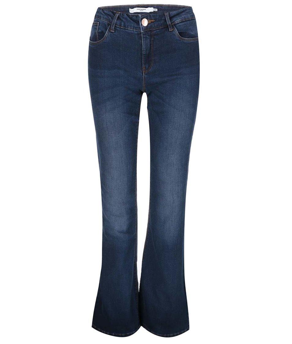 Tmavě modré zvonové džíny Vero Moda Sally