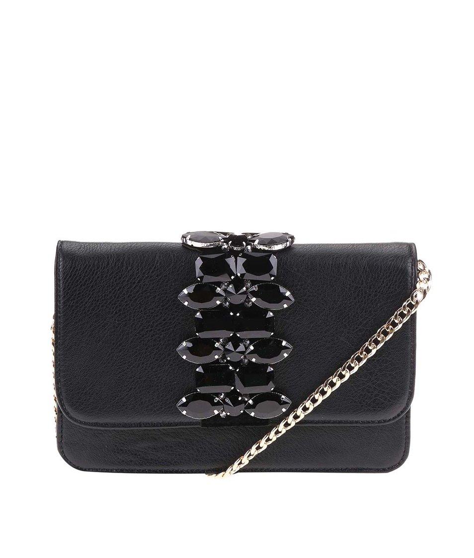 Černá kabelka s ozdobnými kamínky Vero Moda Lay