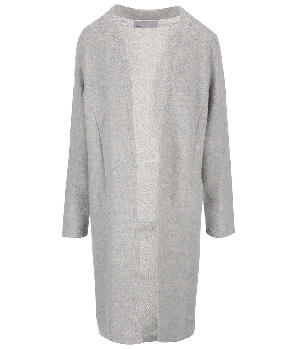 Světle šedý dlouhý cardigan Vero Moda Clarissa