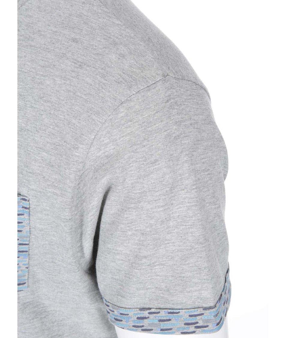 Šedé triko se vzorovanou kapsou Bellfield Marcel