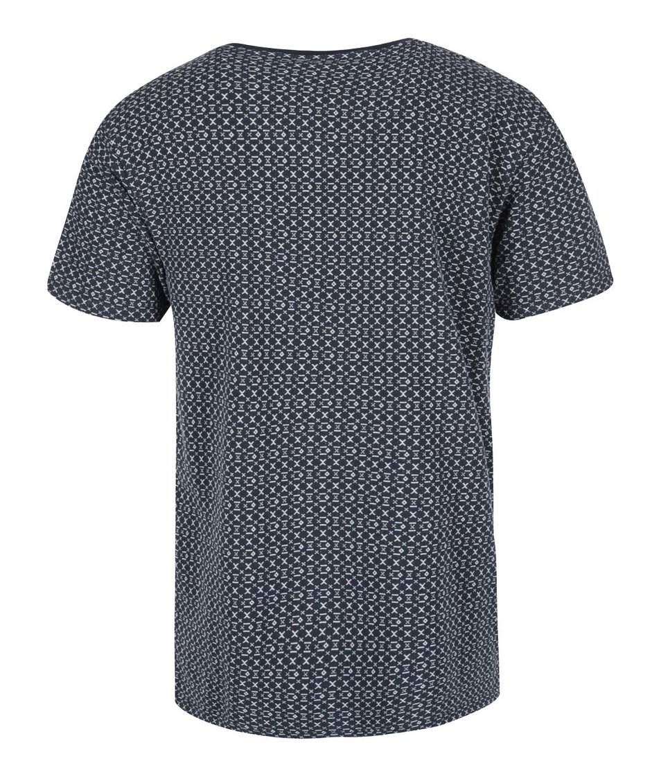 Bílo-černé vzorované triko Bellfield Casper