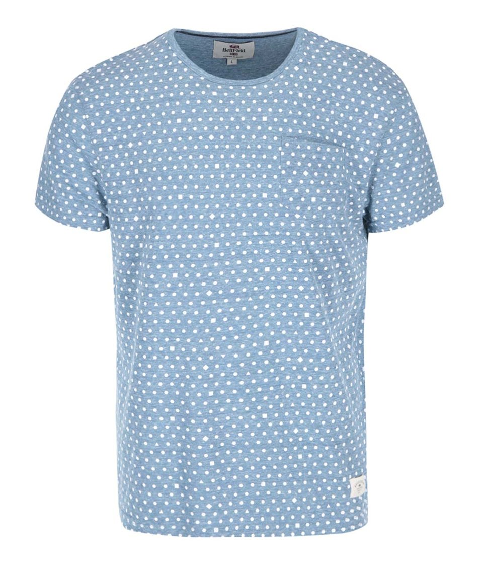 Světle modré žíhané vzorované triko Bellfield Ditzy