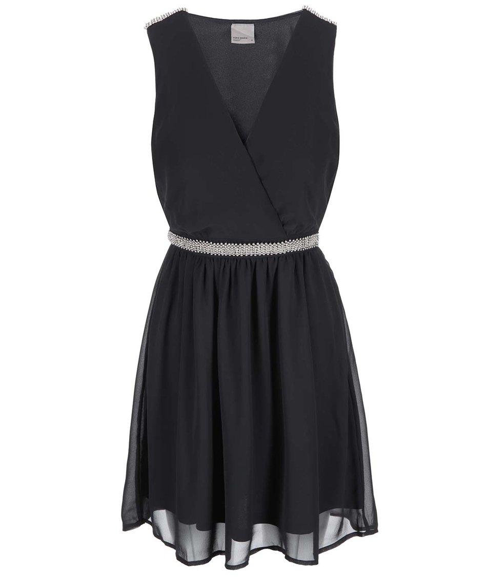 Černé šaty s ozdobným detailem Vero Moda Sallie