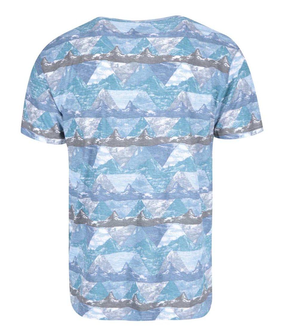 Světle modré vzorované triko Bellfield Rocky