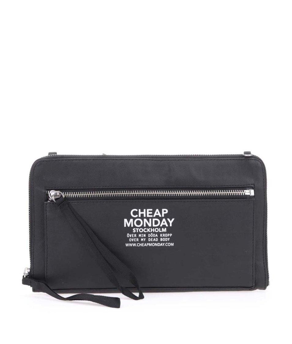 Černá menší kabelka na zip Cheap Monday Zipper clutch