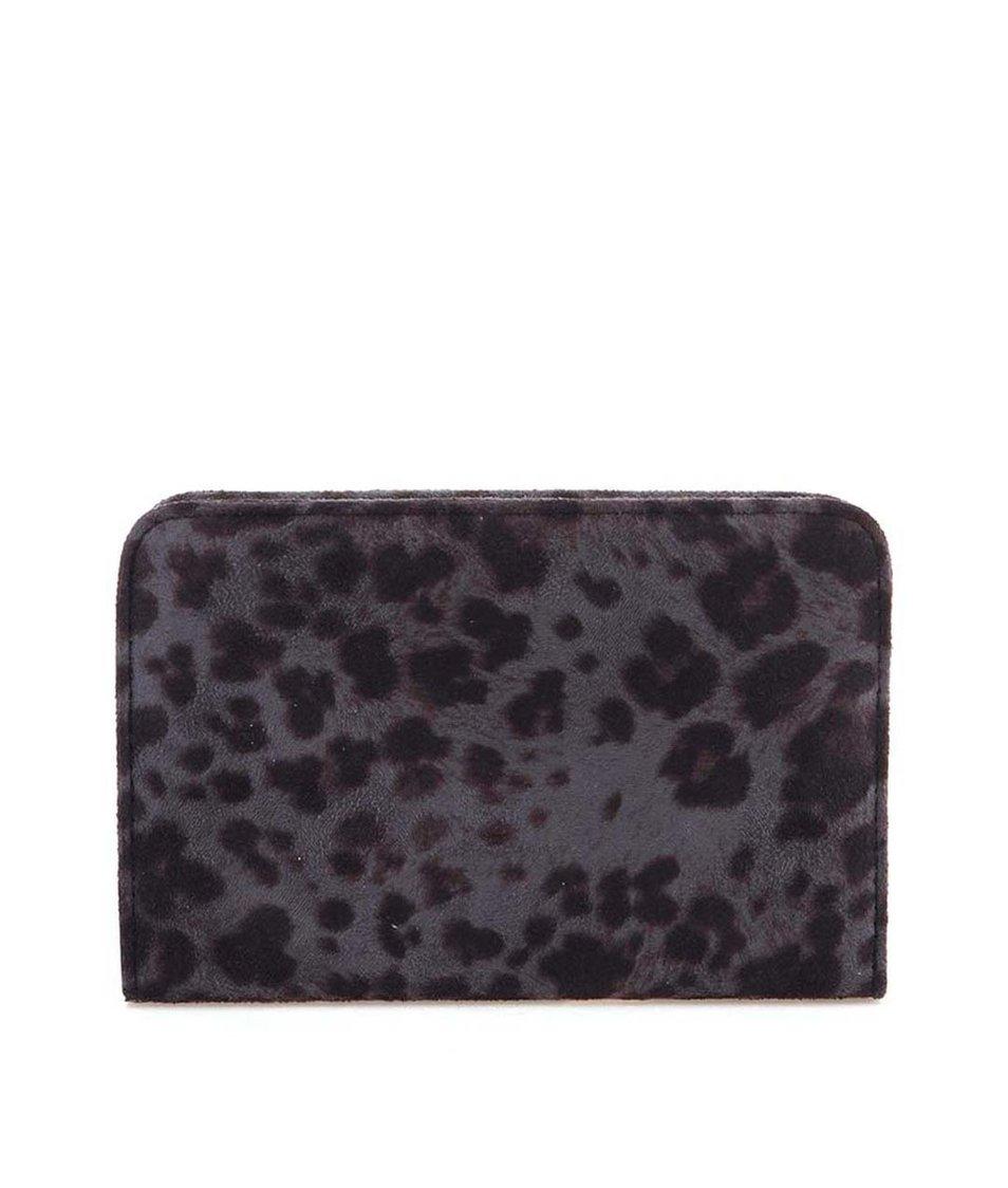 Šedé psaníčko s leopardím vzorem Pieces Kleo