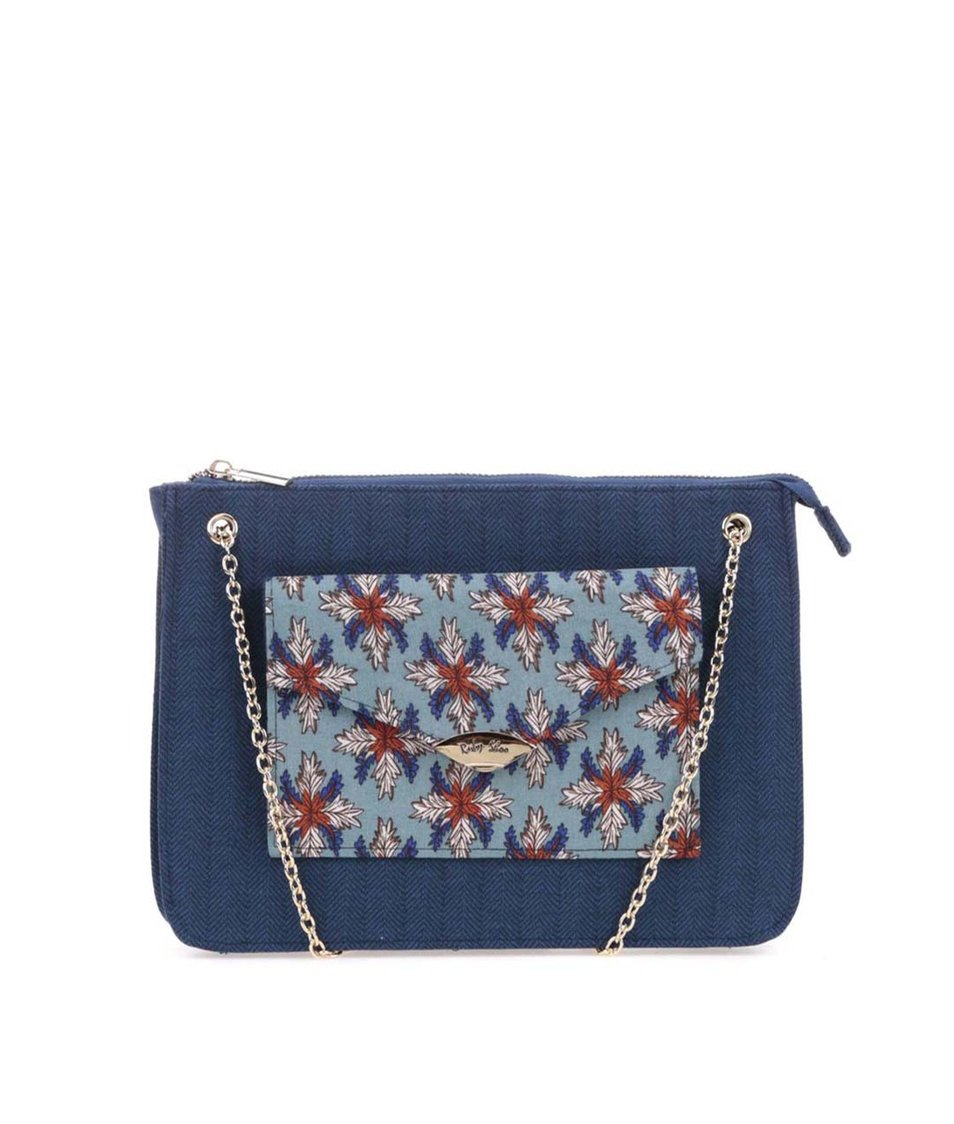 Tmavě modrá vzorovaná kabelka Ruby Shoo New York