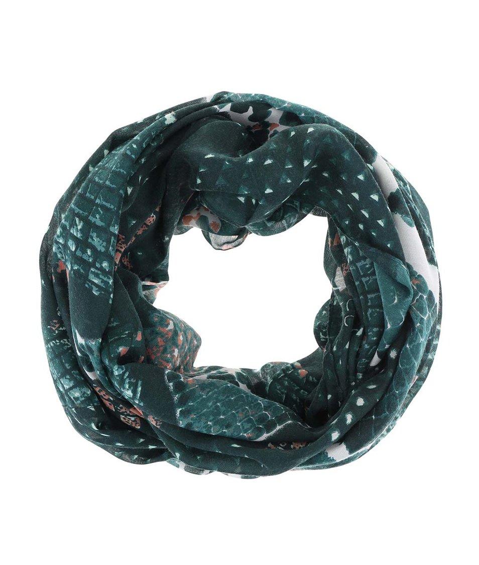 Zelený dutý šátek se vzorem Pieces Vez