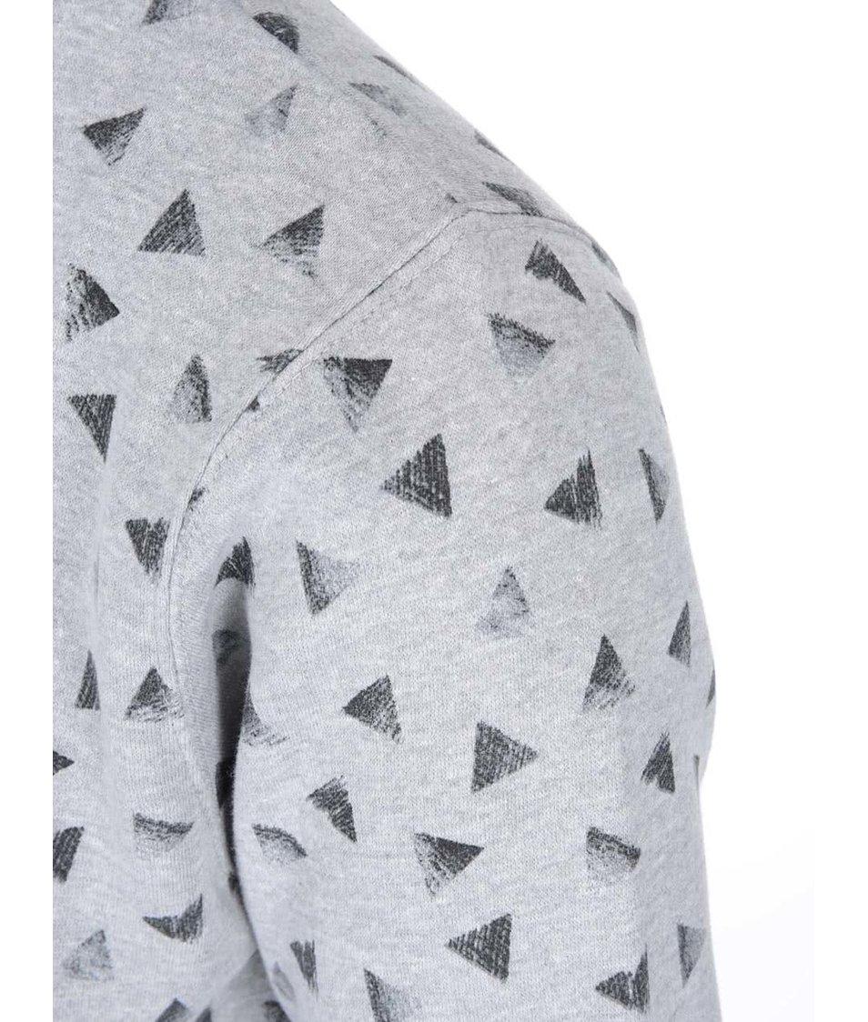 Světle šedá mikina s trojúhélníky Bellfield Aurora