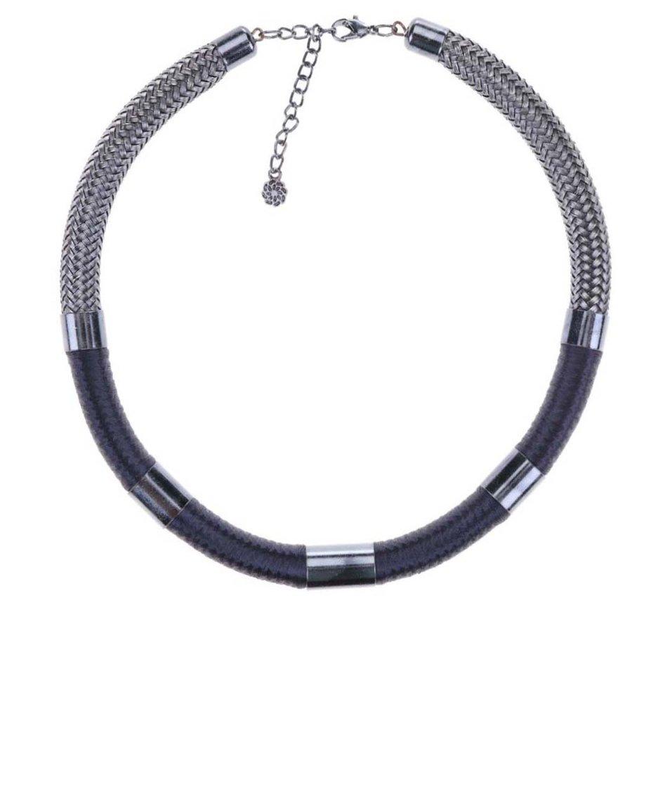 Masivní náhrdelník v šedostříbrné barvě Pieces Vik
