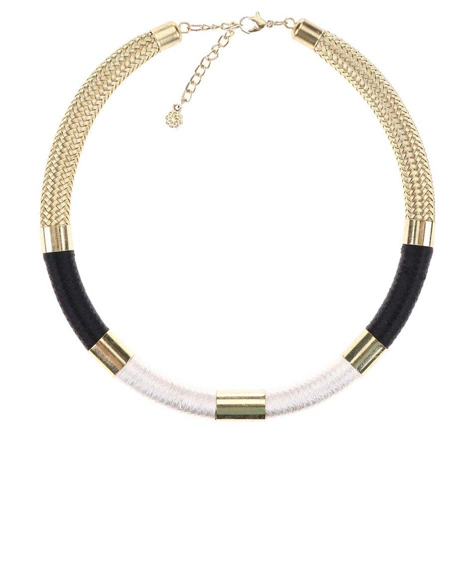 Masivní náhrdelník ve zlaté barvě Pieces Vik