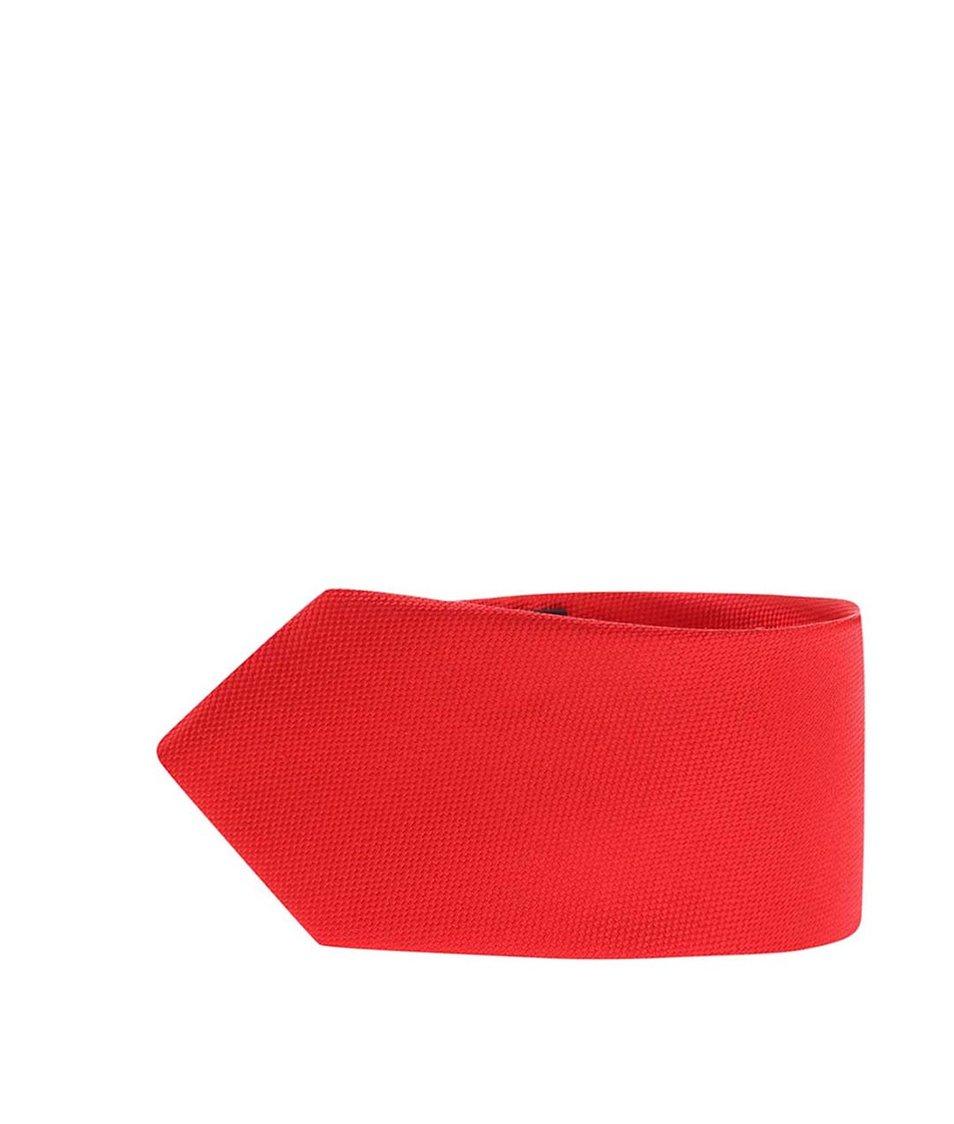 Červená kravata z čistého hedvábí Portia