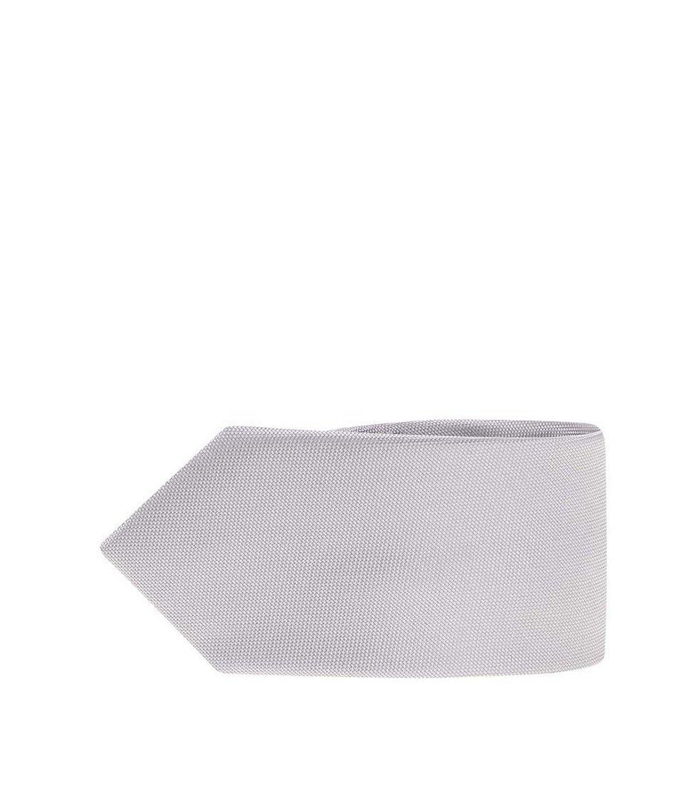 Šedá kravata z čistého hedvábí Portia