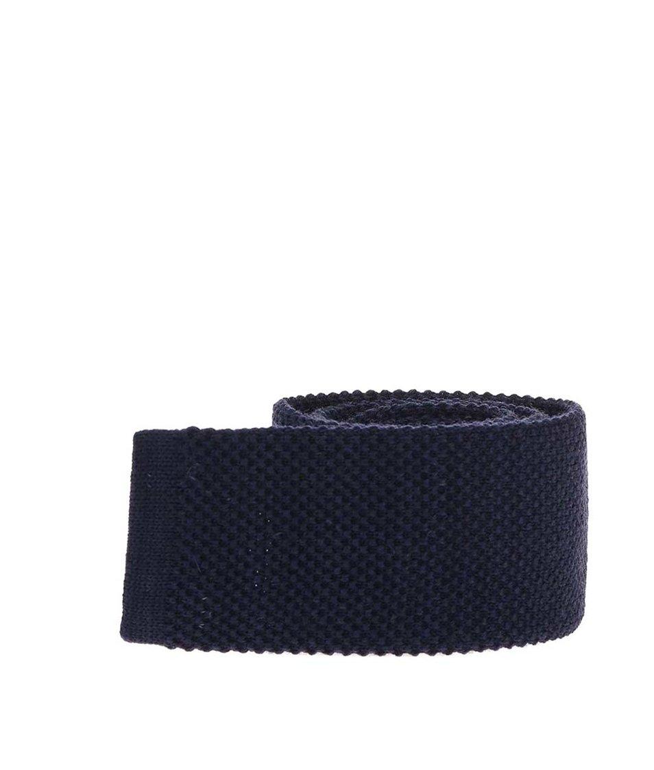 Tmavě modrá vlněná kravata Portia