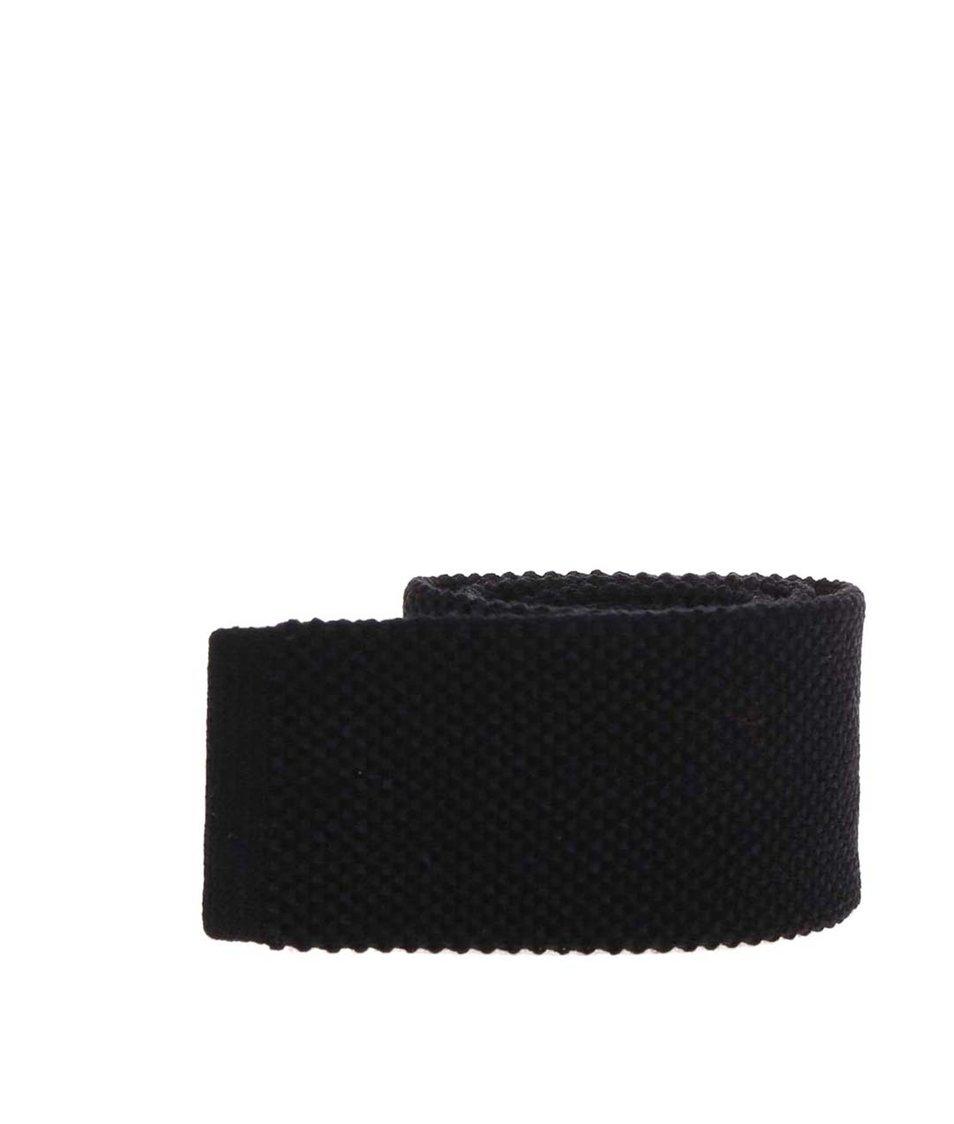 Černá vlněná kravata s hedvábím Portia