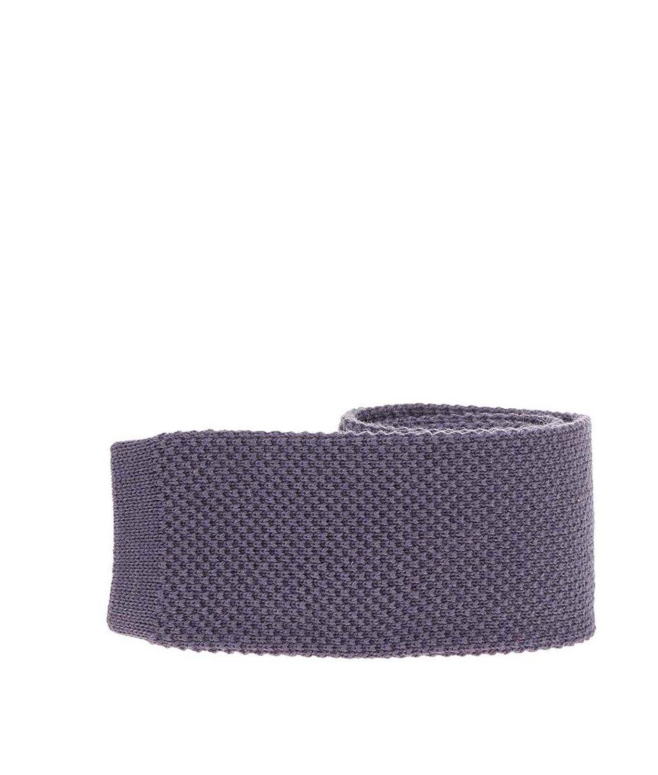 Tmavě šedá vlněná kravata Portia