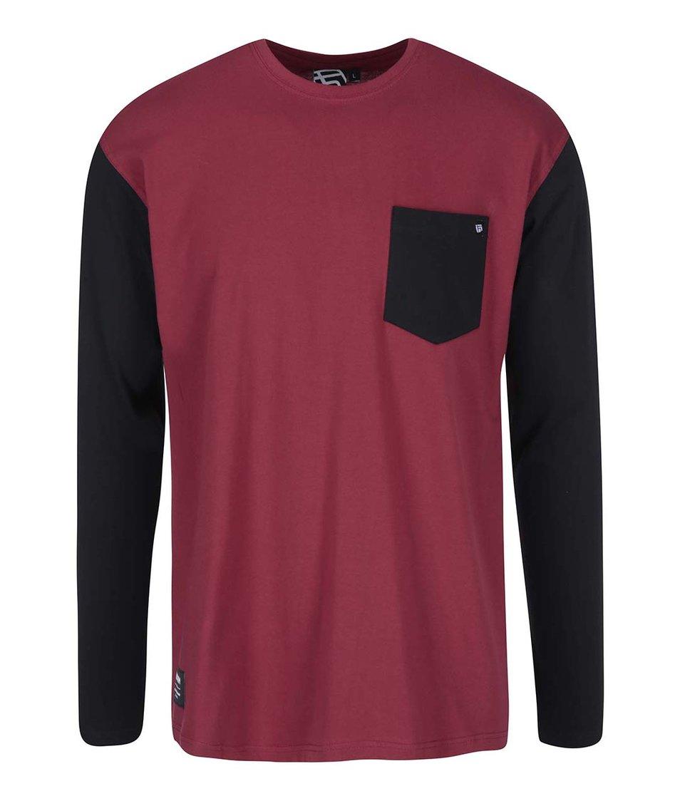 Černo-červené pánské triko s dlouhým rukávem Funstorm Naylor