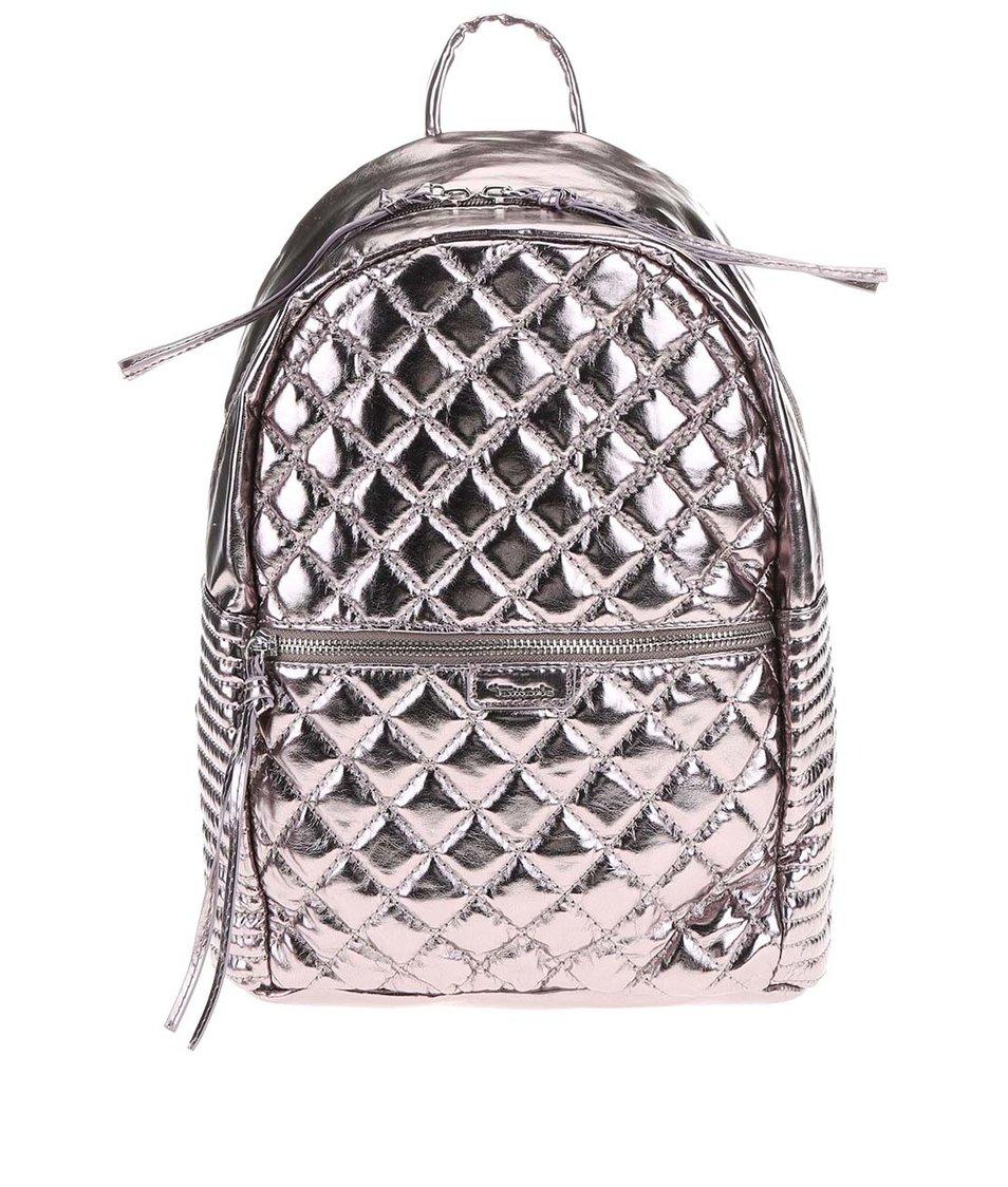 Metalický prošívaný batoh Tamaris Sophie