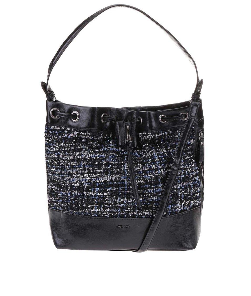 Černá kabelka na stahování Tamaris Mandy