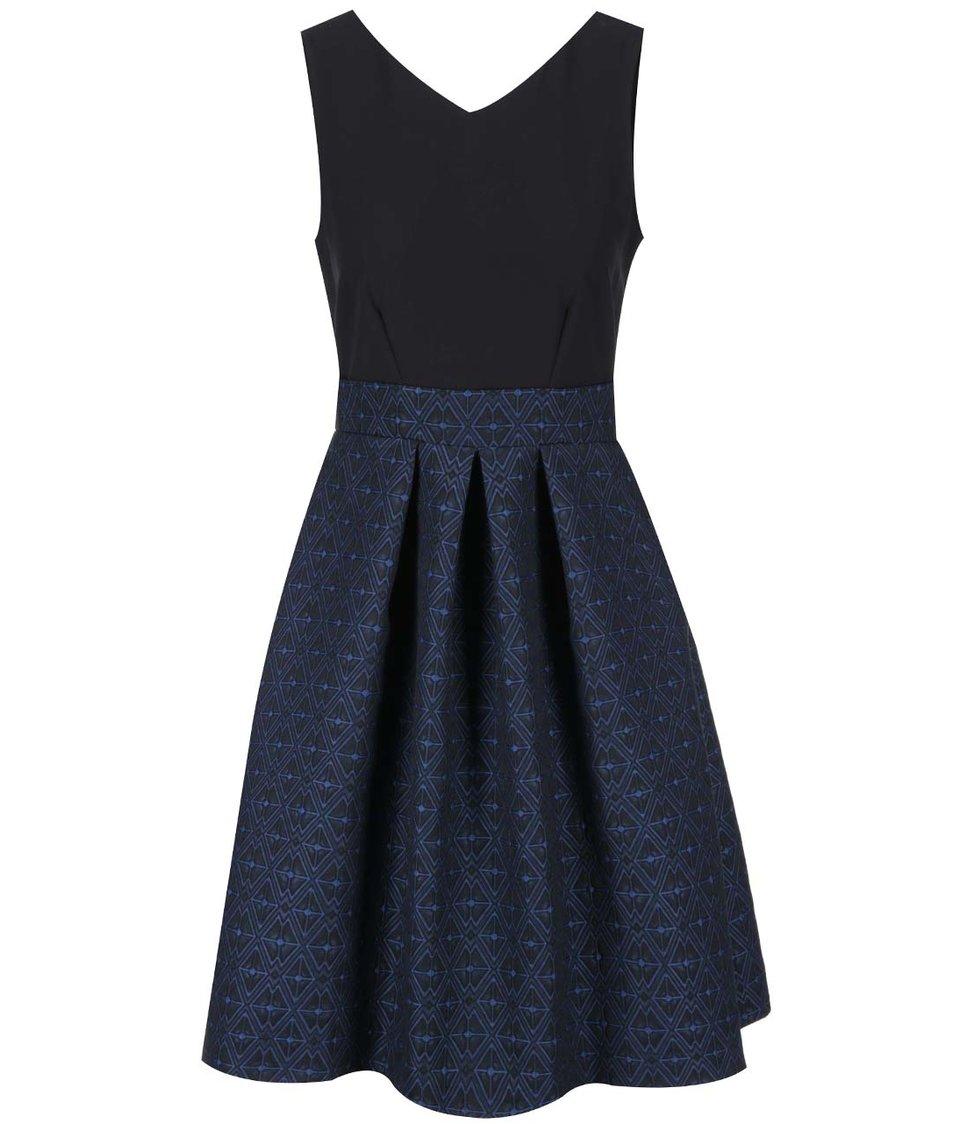 Modro-černé šaty Closet
