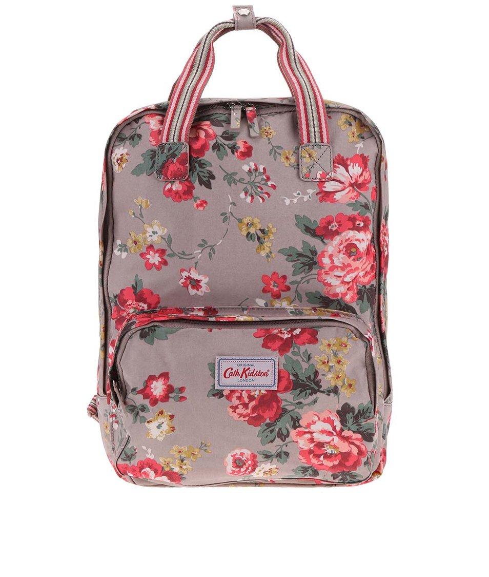 Světle hnědý květovaný batoh Cath Kidston