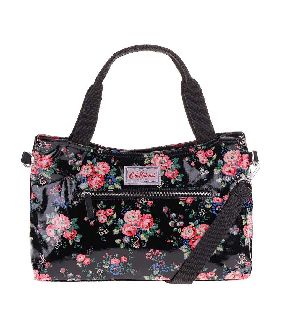 Černá květovaná kabelka přes rameno Cath Kidston