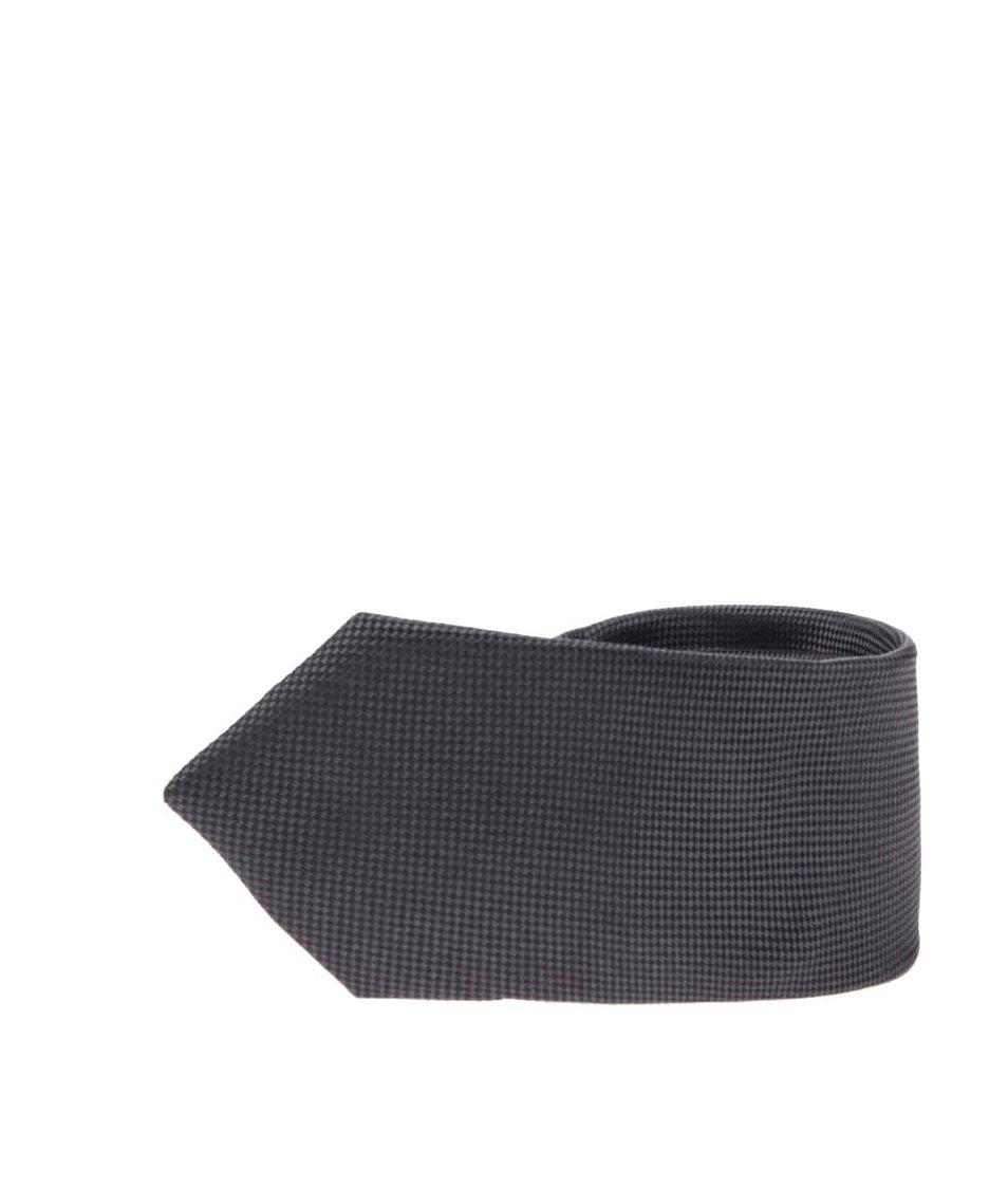 Černo-šedá kravata Selected Noos