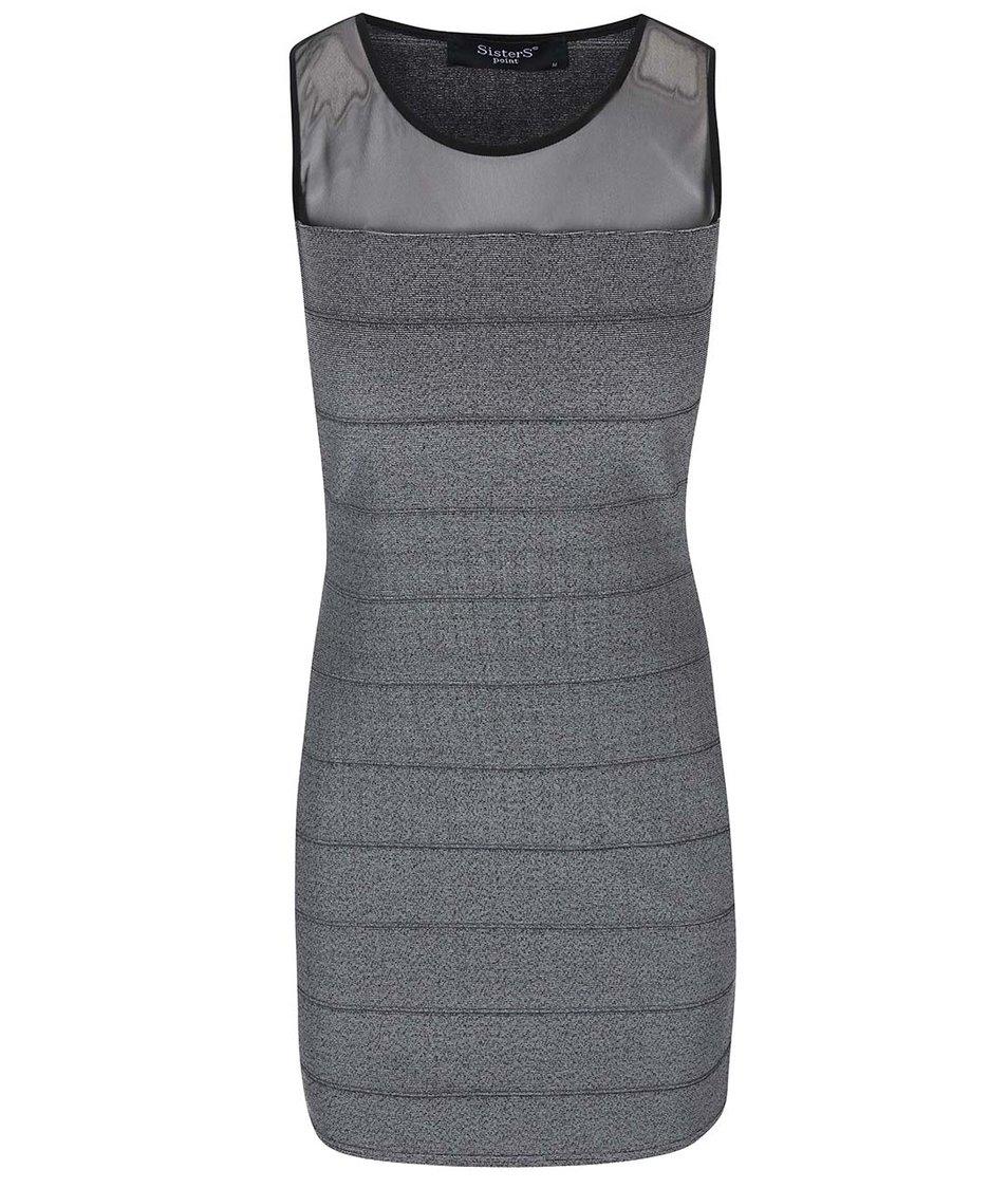 Černo-šedé šaty SisterS Point Enuk