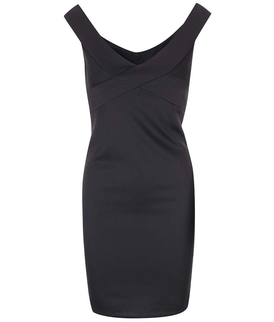 Černé šaty se spadlými rameny SisterS Point Sanni
