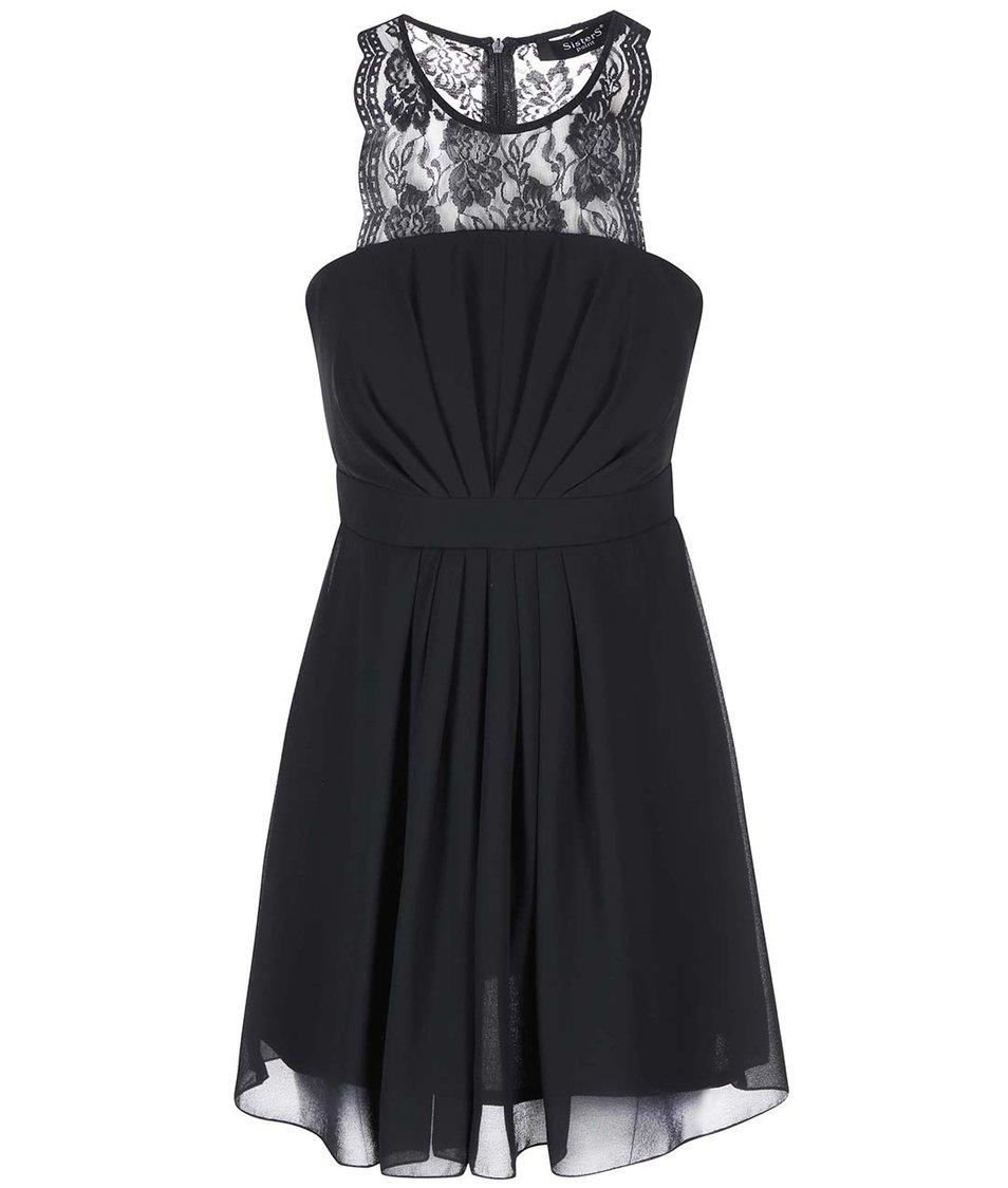 Černé šaty s krajkou SisterS Point Gee
