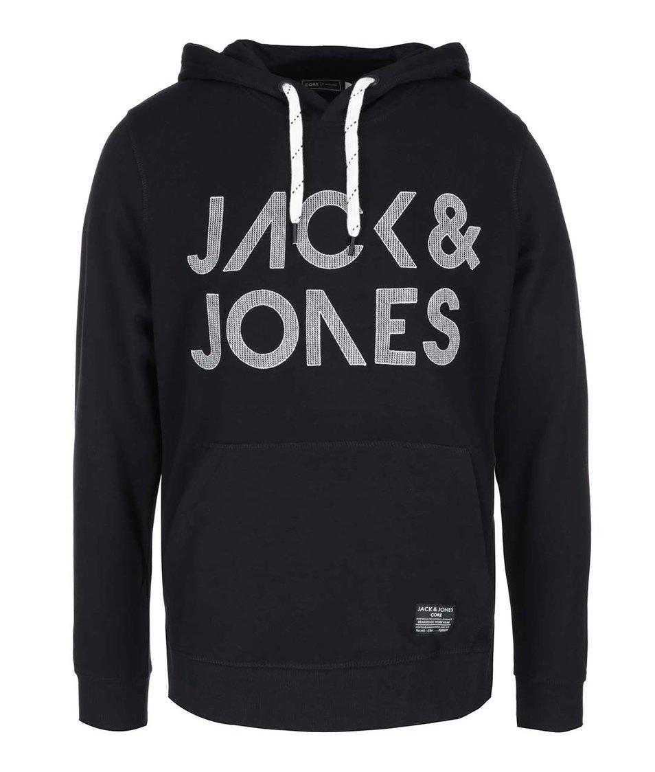 Černá mikina s kapucí Jack & Jones Scale
