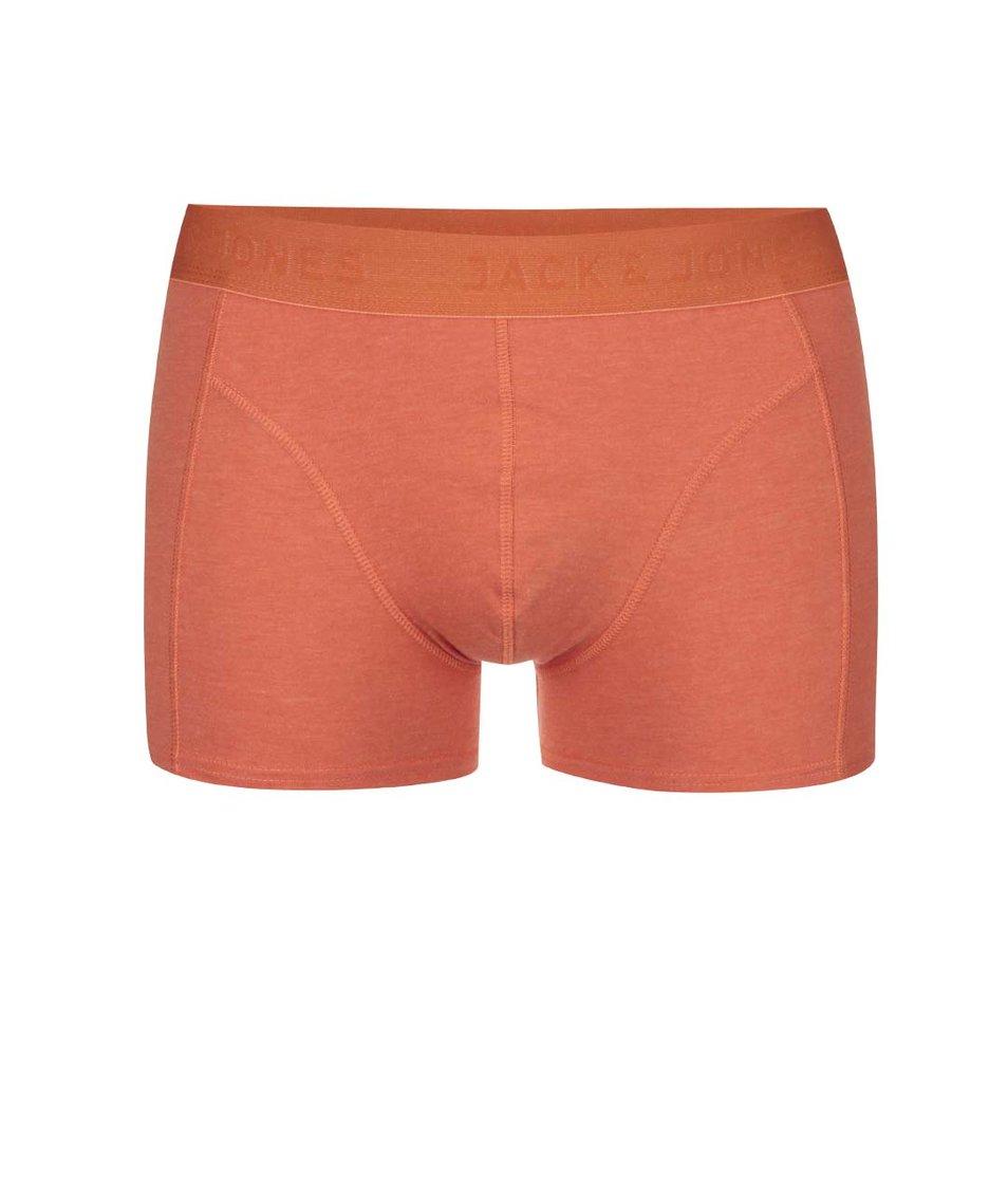 Oranžové boxerky Jack & Jones Melange