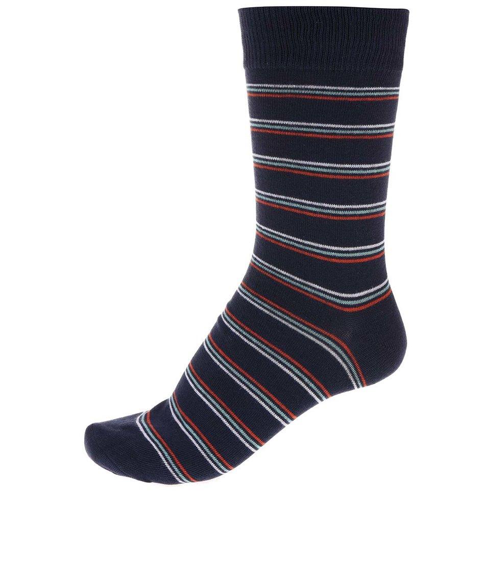 Tmavě modré pruhované ponožky Jack & Jones Classic